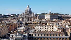 Par l'intermédiaire du della Conciliazione, St Peters Basilica, saint Peters Square, point de repère, site historique, ville, règ Image libre de droits