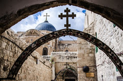 Par l'intermédiaire du dolorosa, Jérusalem photos libres de droits