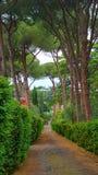 Par l'intermédiaire de la route d'Appia Antica Image stock