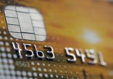 Par la carte de crédit Photo stock
