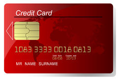 Par la carte de crédit Photographie stock
