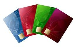 Par la carte de crédit abstrait Photographie stock