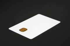 Par la carte de crédit blanc Photos libres de droits