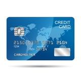 Par la carte de crédit bleu Illustration Stock