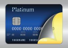 Par la carte de crédit bleu Images stock