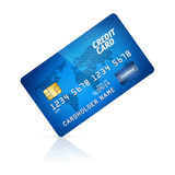Par la carte de crédit d'isolement illustration stock