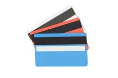 Par la carte de crédit d'isolement sur le blanc photo stock