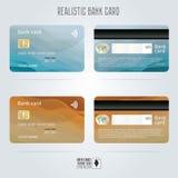 Par la carte de crédit Deux côtés Milieux colorés de vague Vecteur de calibre illustration stock