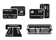 Par la carte de crédit et argent comptant Photographie stock