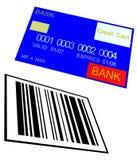 Par la carte de crédit et code barres 8 illustration libre de droits