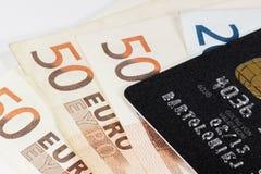 Par la carte de crédit noir Photo stock