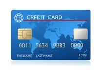 Par la carte de crédit réaliste de vecteur illustration de vecteur