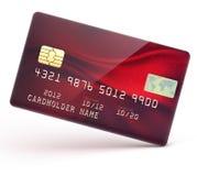 Par la carte de crédit rouge Photos libres de droits