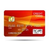 Par la carte de crédit rouge Illustration de Vecteur