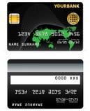 Par la carte de crédit sur des lignes d'onde et   Images libres de droits