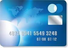 Par la carte de crédit bleu Images libres de droits