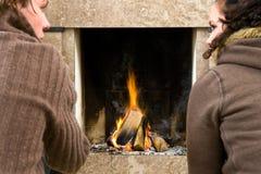 Par la cheminée photo stock