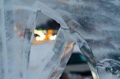 Par la glace Photos libres de droits