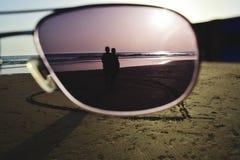 Par la lentille Photo stock