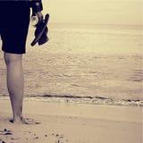 Par la mer Photos libres de droits