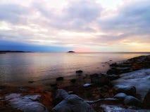 Par la mer Photographie stock