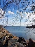 Par la mer Image stock