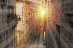 Par la ville d'Ainsa Photo stock