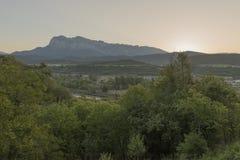 Par la ville d'Ainsa Photographie stock libre de droits