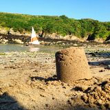 Par le bord de la mer Photo stock