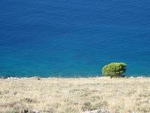 Par le bord de la mer méditerranéen Image libre de droits
