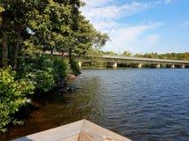Par le lac image libre de droits