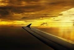 Par les nuages Images libres de droits