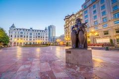 Par les rues d'Oviedo photos stock