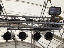 Par Lighting. Hanging on truss for event Stock Photos