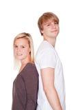 Par med den problembråket och frysningen av Royaltyfria Foton