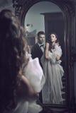 par mirror sexigt Royaltyfria Foton