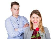 Par, når att ha slagits royaltyfri bild