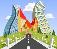 Par nature paysage entouré par ville illustration libre de droits