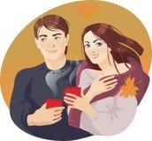 Par och kaffe Arkivfoton