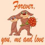 Par på ett datum förbunden förälskelse vektor illustrationer