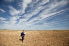 Par på fältet Fotografering för Bildbyråer