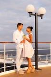 Par på kryssning Fotografering för Bildbyråer