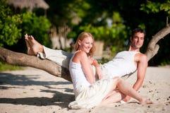 Par på semester Royaltyfria Bilder