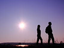 Par på vägen Royaltyfri Foto