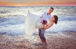 Par på stranden Royaltyfria Foton