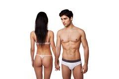 par passade sexig underkläder Arkivbild
