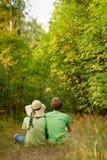 par potomstwa lasowi relaksujący Obraz Royalty Free