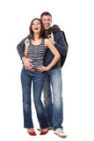 par potomstwa szczęśliwi pracowniani Zdjęcia Royalty Free