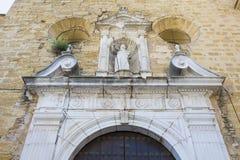 Par?quia da fachada de Santiago Apostle Church, Montilla, Espanha imagens de stock