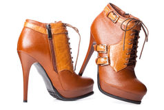 par s shoes kvinnan Arkivfoto